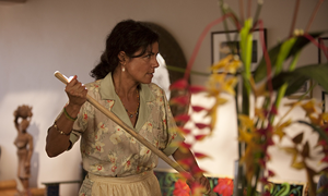 Woman working as a nanny in América the film
